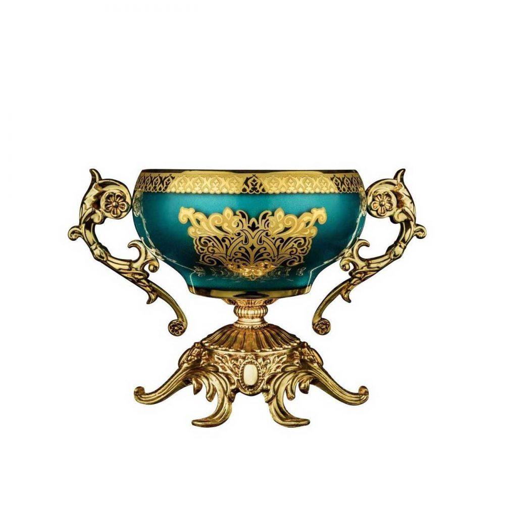خرید آجیل خوری سلطنتی آبکاری مدل اتان - Etan