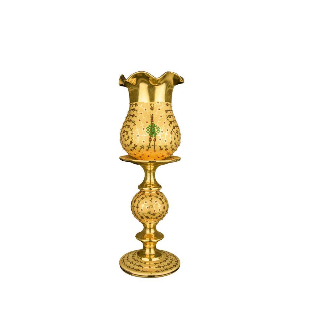 خرید شمعدان رومیزی طرحدار سلطنتی