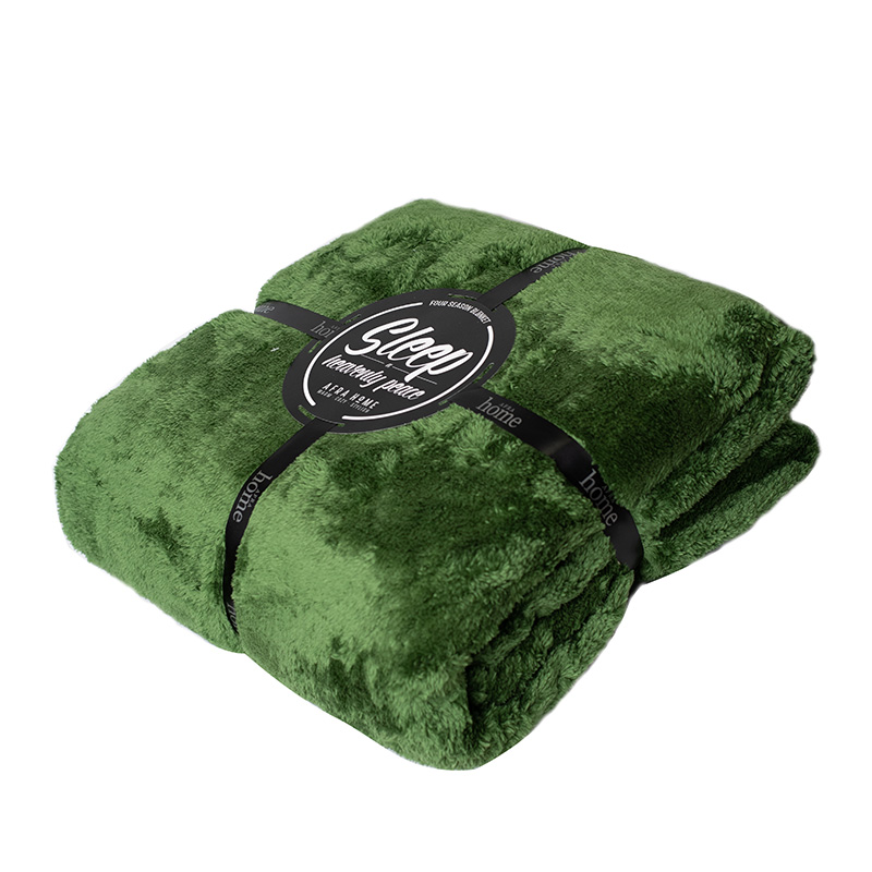 پتو افرا رنگ سبز - کد 1348