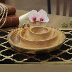 خرید اردورخوری گلد کیش + سه تایی گرد طرح Wood