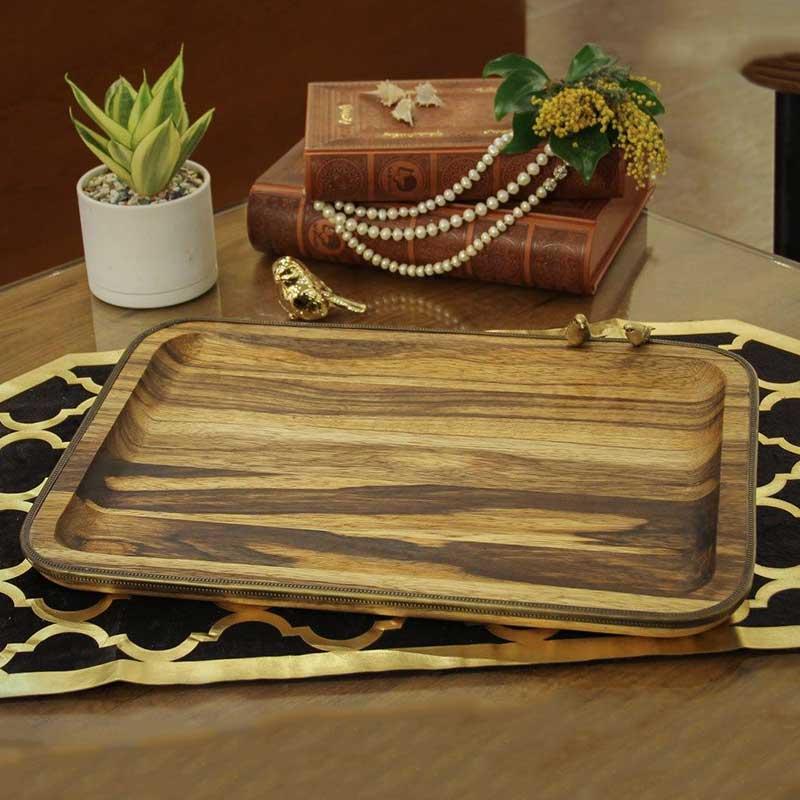 خرید میوه خوری مستطیلی چوبی دست ساز + جنس آکاسیابلک