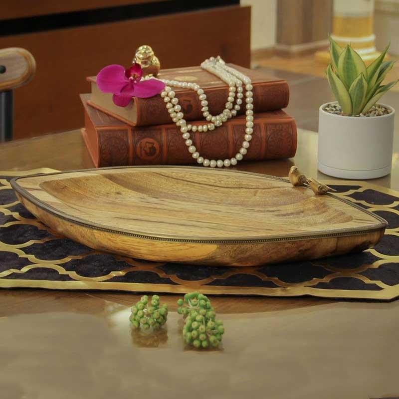 خرید میوه خوری چوبی گلد کیش رنگ چوب نچرال + سایز بزرگ