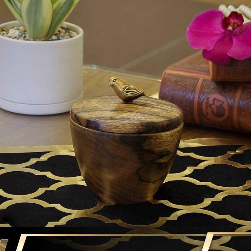 خرید قندان طرح Wood + چوبی گلدکیش