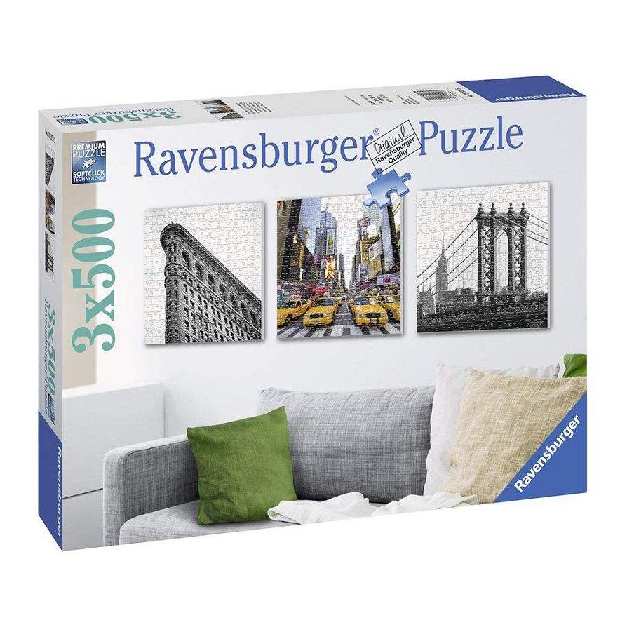 پازل 3 × 500 تکه راونزبرگر مدل New York City